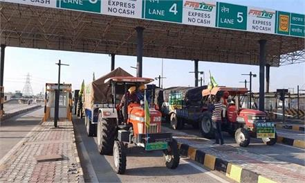 big relief to farmers all barriers opened on toll plazas