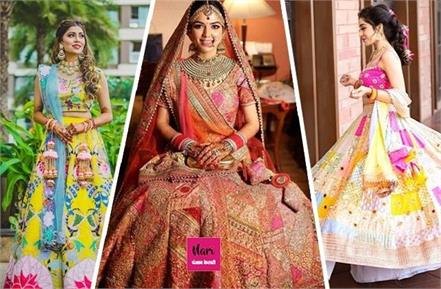 patchwork lehenga designs for bridal