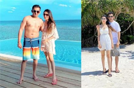 gautam gambhir went on vacation to maldives with wife natasha