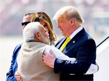 in 3 hours modi trump hugged 7 times shook hands 9 times