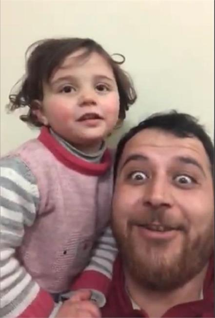 syrian dad tells daughter sound of bombs is from toy gun