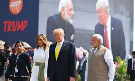 international media covered trump speech n gujarat