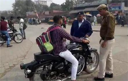 one lakh challan of three bullet bikes