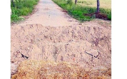 roads dug boundaries sealed in fatehabad haryana