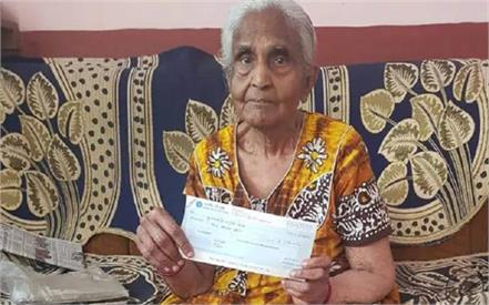 82 year old draws praise for donating rs 1 lakh to cm s relief fund