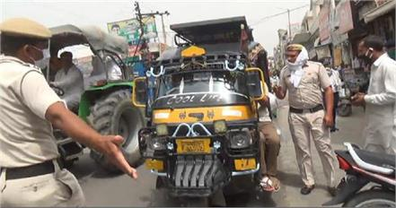 haryana news traffic police showed strictness in the city