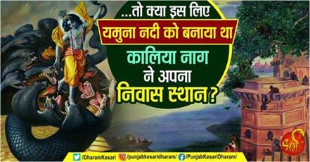 story of kalia naag and sri krishna in hindi