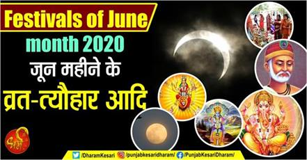 festivals of june month 2020