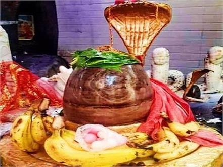 the sign of  om  emerged during the worship of shivling