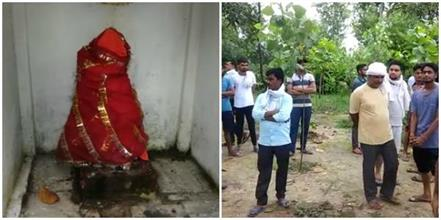 mischievous elements ruined the idol of hanuman temple