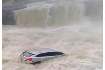 car fell into a 300 feet deep moat in water watch video