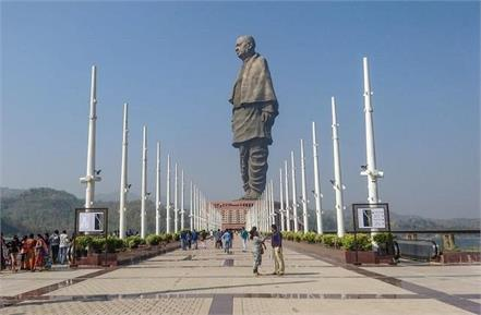 statue of unity will be closed for tourists from october 28 to november 1