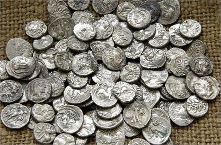 67 silver coins found during excavation of old mansion villagers clash