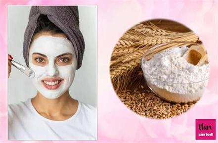 wheat flour face pack for glowing skin