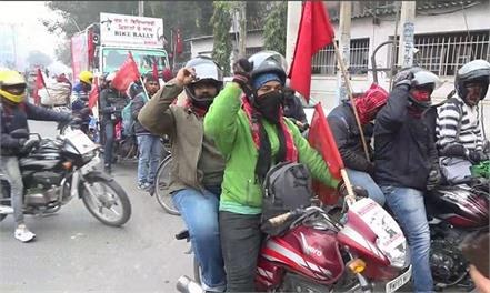 students bike rally from rohtak reached from punjab