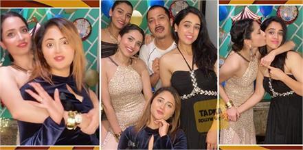 ankita lokhande late night party with rashami desai and friends