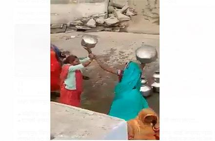 video of fight over water viral