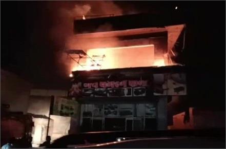 fierce fire in furniture showroom