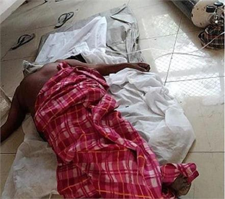 isolation ward corona positive patient lying on the ground