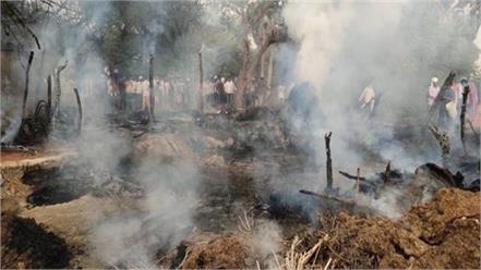 7 cattle dead in auraiya s horrific fire teenager also scorched