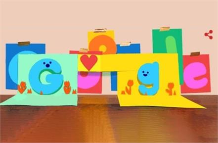google doodle wishes fathers day with digital card
