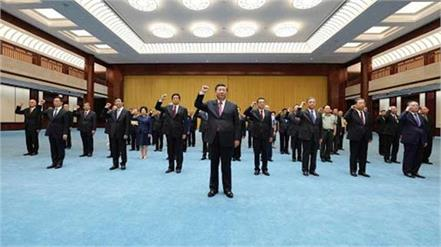 xi jinping administers loyalty pledge to senior leaders of the party