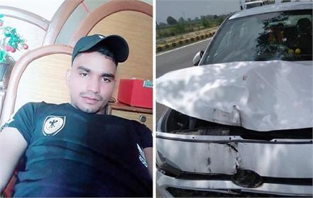 youth dies in road accident car driver absconded from the spot
