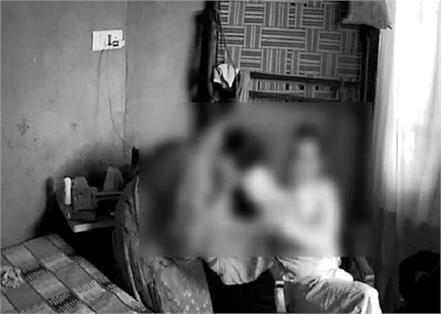 heinous act of the priest of the religious place was caught on camera