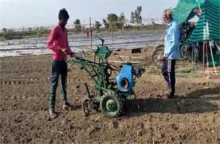 farmer made tractor with pure desi jugaad