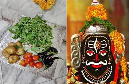 when the vow was fulfilled the priest offered green vegetables to mahakal