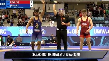 sagar jaglan created history won gold medal by becoming world champion