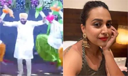swara bhaskar charanjit singh channi bhangra video