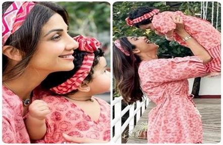 shilpa lavishes a lot of love on her daughter samisha