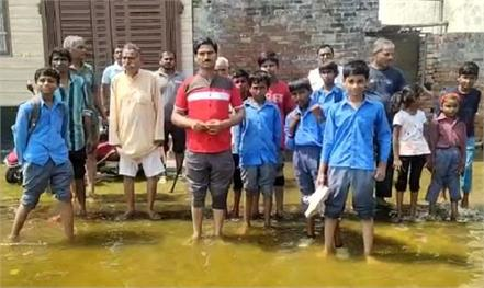 colonies filled with water due to drain break