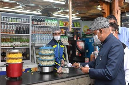 president ramnath kovind became a customer at the shop and bought popcorn