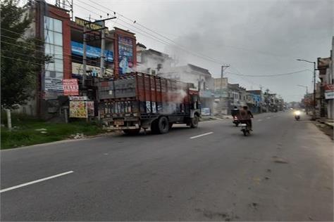 fire in gas cyllinders truck