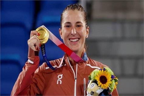 belinda bencic  tennis  gold medal  tokyo olympics