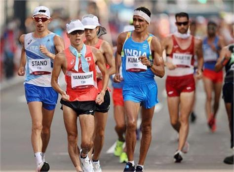 tokyo olympics  sandeep kumar finishes 23rd in men  s 20km race walk event