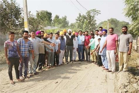 the road was laid for months before the repair of soil no work started
