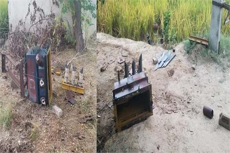 stolen goods from 3 transformers engaged in fields