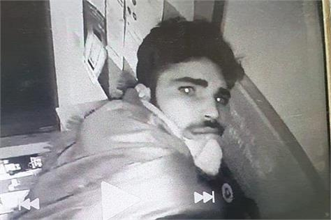 atm loot cctv footage in yamunanagar
