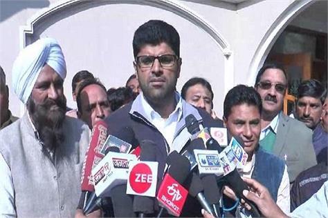 dushyant s reply on arjun chautala s statement
