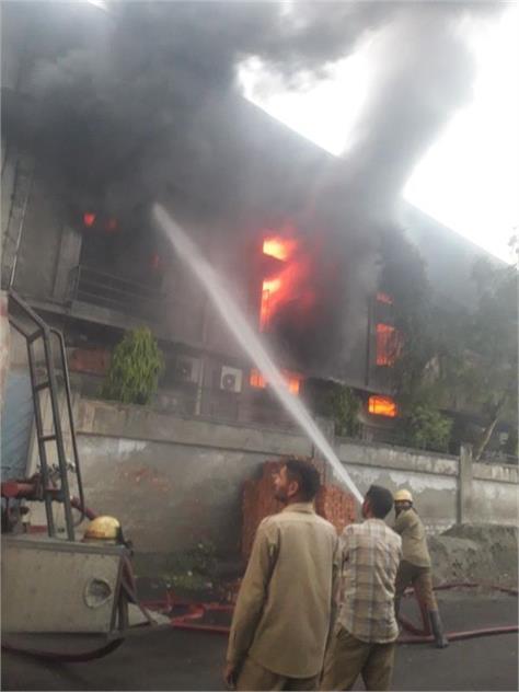 factory fire in ludhiana