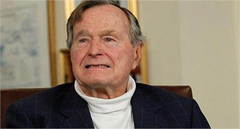 former us president bush s condition worsens after wife s death