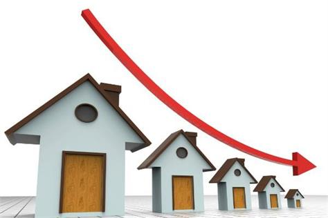 house prices decrease by seven percent in january march