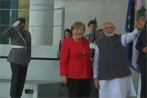 pm modi arrives in berlin after uk visit to germany chancellor angela merkel