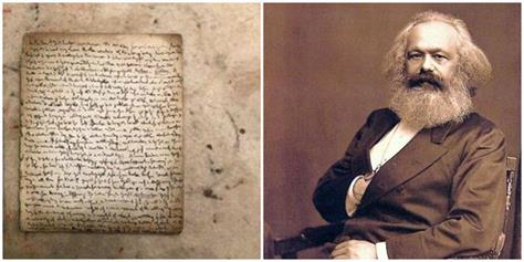 page from karl marx s manuscript sells for 524 000