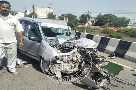 asi in patiala road accident 2 deaths