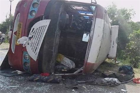 30 injured in bus accident in ujjain 6 in critical condition