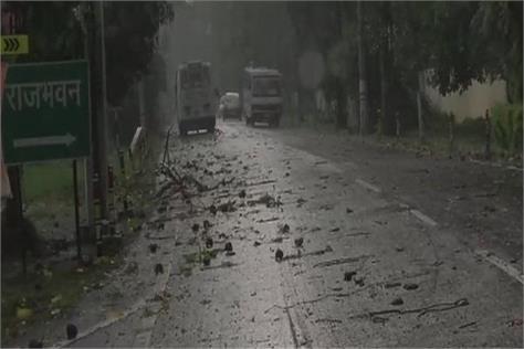 rain accompanied by storm in uttarakhand